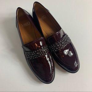 Franco sarto studd strap loafers in brown
